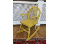 Child shabby chic rocking chair
