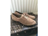 Real suede clarks brogue shoes