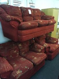 Red fabric 3 2 1 suite