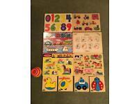 Wooden peg Puzzle bundle Mellisa & Doug