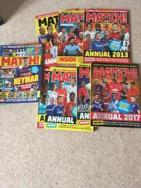 Match annuals and magazines