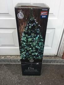 Brand new in box 6ft pre lit Christmas tree