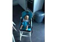 £5 - Booster seat - foldaway Travel High Chair/Seat