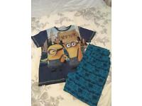 Boys minion pjs. Size 10-11 years old.