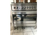 ARISTON FIVE BURNER GAS FREE RANGE COOKER WITH FAN ASSISTED ELECTRIC OVEN