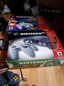 Nintendo 64 Mario 64 & 4 Controllers