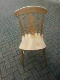 Vintage pine chair