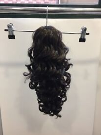 Curly Dark Brown Ponytail Clip In
