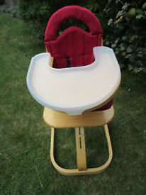 Swan High Chair with tray