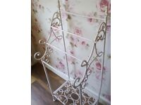 Lovely shabby chic French style ornate metal towel stand