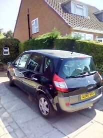 Renault Scenic - 130,000 miles. Running well just passed MOT, great family car. No radio