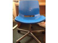 Ikea Blue SNILLE Swivel Desk Chair
