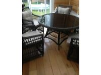 Rattan Grey Tabble and 4 chairs