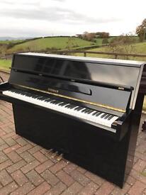 Small modern black Steinback upright piano