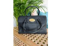 Black Leather Mulberry Look Handbag