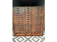 Haberdashery cabinet / apothecary drawers