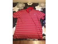 Red stripe Nike top