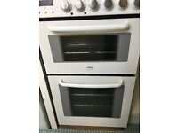 Zanussi Electrolux freestanding electric cooker with double oven, grill and 4 ring ceramic hob -used