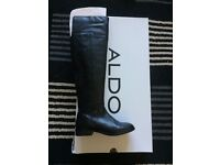 Over The Knee Leather Boot