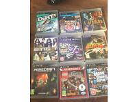 PS3 Slim with 9 games, headset and controller