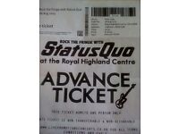 2 STATUS QUO TICKETS FOR ROCK THE FRINGE.