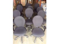 10 - OPERATOR CHAIRS IN BLACK - GOOD CONDITION