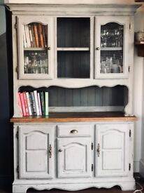 Country Welsh Dresser Storage Unit Vintage Shabby Shic