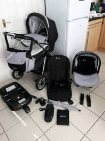 Silver cross Pioneer pram travel set with isofix base