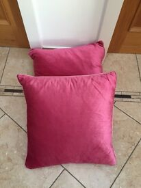 Silk pink cushions from Laura Ashley