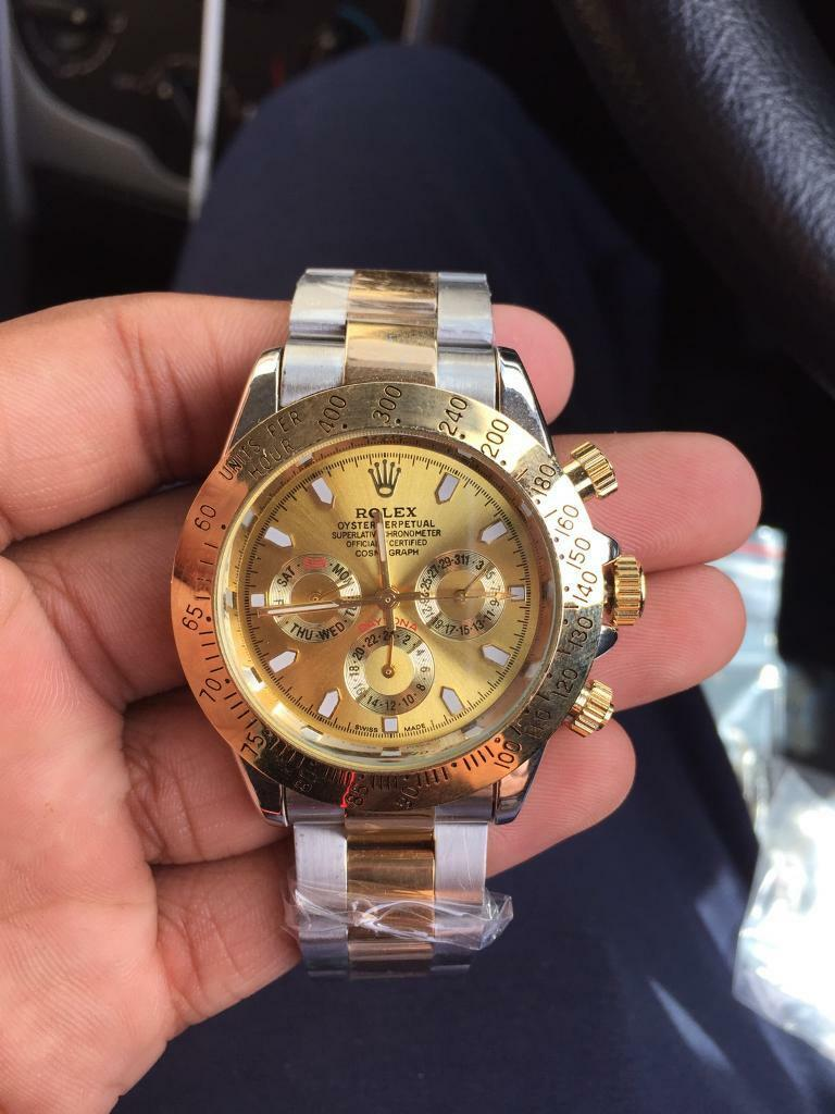 Rolex Daytona Gold Silver