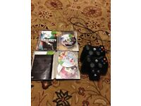 2 wireless controllers and 2 games for Xbox 360 gta 5 call of duty black ops 1 all work v g c