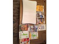 Wii fit board with 9 games