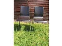X3 leather dining chairs