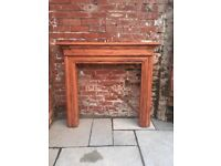 Wood stained fire surround with/without marble look hearth