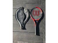 Wilson Federer 25 Junior Tennis Racket, Red/Black