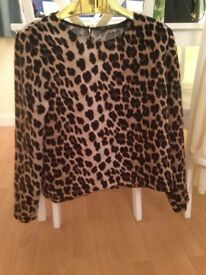 Zara collection leopard print top