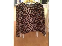 Zara collection leopard print top