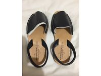 LADIES MENORCA FLAT SLING BACK, OPEN TOE SPANISH SANDALS - BRAND NEW