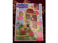 new in box peppa pig house