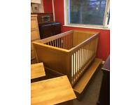 Marks & Spencer solid oak child's cot/bed * free furniture delivery*