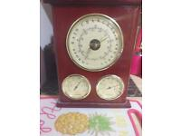 Three dail weather station barometer