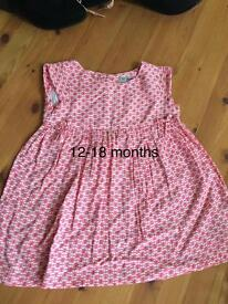 Girls dresses size 12-18 months