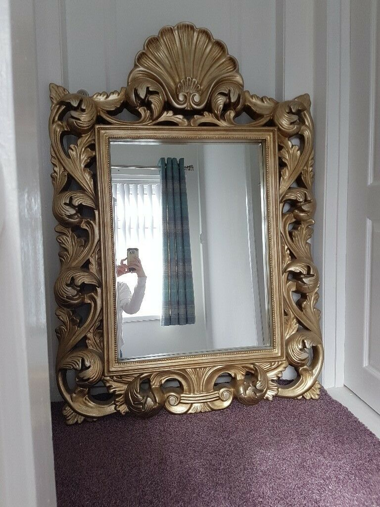 Large Metallic Ornate Mirror
