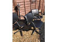 5 x salon chairs