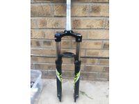 sr suntour mountain bike suspension forks 120mm 650b 27.5 QR steerer length 180mm