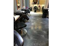 7 Italian leather styling salon chairs