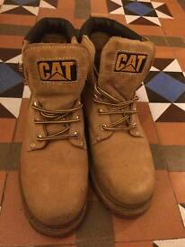 Caterpillar (Cat) Boots, Men's, Sandstone, Size 7 Wide Fit