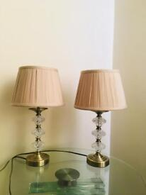 Side table lamps and shades