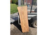 "45"" Long Horse Chestnut Wood Timber Board. Garden bench £20"