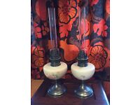 VINTAGE STYLE REPRODUCTION OIL LAMPS